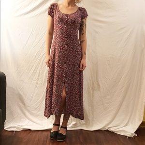 Floral Button Down Maxi Dress